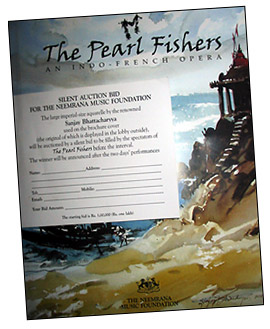 "Program for ""The Pearl Fishers"""