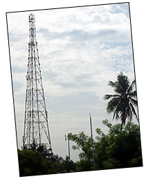 Cellphone tower in Pondicherry